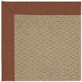 Capel Rugs Creative Concepts Raffia - Linen Chili (845) Octagon 6
