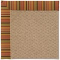 Capel Rugs Creative Concepts Raffia - Tuscan Stripe Adobe (825) Octagon 12