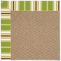 Capel Rugs Creative Concepts Raffia - Tux Stripe Green (214) Runner 2