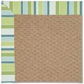 Capel Rugs Creative Concepts Raffia - Capri Stripe Breeze (430) Rectangle 8