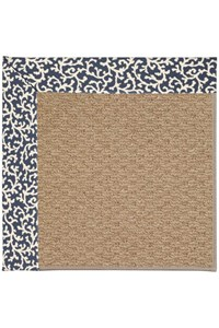 Capel Rugs Creative Concepts Raffia - Coral Cascade Navy (450) Rectangle 12' x 15' Area Rug