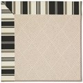 Capel Rugs Creative Concepts White Wicker - Down The Lane Ebony (370) Octagon 4