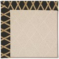 Capel Rugs Creative Concepts White Wicker - Bamboo Coal (356) Octagon 6