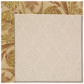 Capel Rugs Creative Concepts White Wicker - Cayo Vista Sand (710) Octagon 6