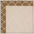 Capel Rugs Creative Concepts White Wicker - Arden Chocolate (746) Octagon 8