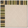 Capel Rugs Creative Concepts White Wicker - Vera Cruz Coal (350) Octagon 10