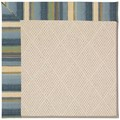 Capel Rugs Creative Concepts White Wicker - Kalani Ocean (417) Octagon 12
