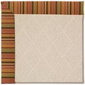 Capel Rugs Creative Concepts White Wicker - Tuscan Stripe Adobe (825) Octagon 12