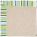 Capel Rugs Creative Concepts White Wicker - Capri Stripe Breeze (430) Rectangle 3