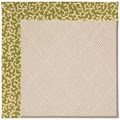 Capel Rugs Creative Concepts White Wicker - Coral Cascade Avocado (225) Rectangle 5