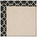 Capel Rugs Creative Concepts White Wicker - Arden Black (346) Rectangle 7