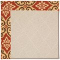 Capel Rugs Creative Concepts White Wicker - Shoreham Brick (800) Rectangle 7