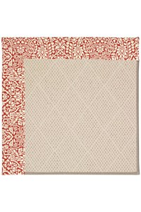 Capel Rugs Creative Concepts White Wicker - Imogen Cherry (520) Rectangle 9' x 12' Area Rug