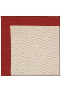 Capel Rugs Creative Concepts White Wicker - Canvas Cherry (537) Rectangle 9' x 12' Area Rug