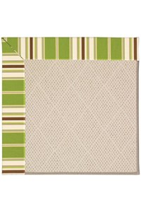 Capel Rugs Creative Concepts White Wicker - Tux Stripe Green (214) Rectangle 12' x 15' Area Rug