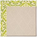 Capel Rugs Creative Concepts White Wicker - Shoreham Kiwi (220) Rectangle 12
