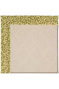 Capel Rugs Creative Concepts White Wicker - Coral Cascade Avocado (225) Rectangle 12' x 15' Area Rug