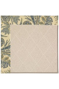 Capel Rugs Creative Concepts White Wicker - Cayo Vista Ocean (425) Rectangle 12' x 15' Area Rug