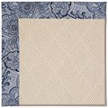 Capel Rugs Creative Concepts White Wicker - Paddock Shawl Indigo (475) Rectangle 12