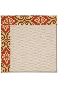 Capel Rugs Creative Concepts White Wicker - Shoreham Brick (800) Rectangle 12' x 15' Area Rug