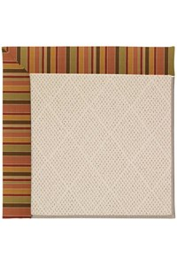Capel Rugs Creative Concepts White Wicker - Tuscan Stripe Adobe (825) Rectangle 12' x 15' Area Rug