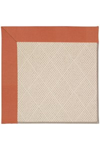 Capel Rugs Creative Concepts White Wicker - Canvas Persimmon (847) Rectangle 12' x 15' Area Rug