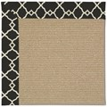 Capel Rugs Creative Concepts Sisal - Arden Black (346) Octagon 12