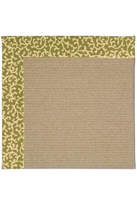 Capel Rugs Creative Concepts Sisal - Coral Cascade Avocado (225) Rectangle 12' x 15' Area Rug
