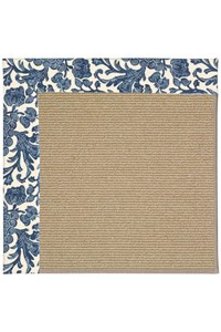 Capel Rugs Creative Concepts Sisal - Batik Indigo (415) Rectangle 12' x 15' Area Rug