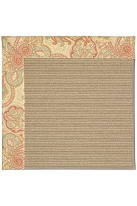Capel Rugs Creative Concepts Sisal - Paddock Shawl Persimmon (810) Rectangle 12' x 15' Area Rug