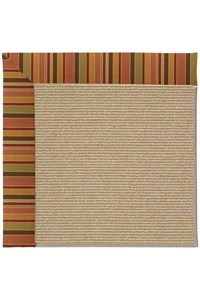 Capel Rugs Creative Concepts Sisal - Tuscan Stripe Adobe (825) Rectangle 12' x 15' Area Rug