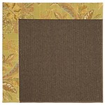 Capel Rugs Creative Concepts Java Sisal - Cayo Vista Tea Leaf (210) Octagon 4' x 4' Area Rug