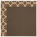 Capel Rugs Creative Concepts Java Sisal - Arden Chocolate (746) Octagon 8