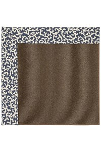 Capel Rugs Creative Concepts Java Sisal - Coral Cascade Navy (450) Rectangle 12' x 15' Area Rug