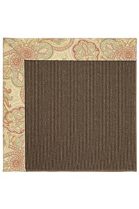 Capel Rugs Creative Concepts Java Sisal - Paddock Shawl Persimmon (810) Rectangle 12' x 15' Area Rug