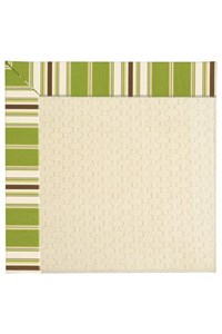 Capel Rugs Creative Concepts Sugar Mountain - Tux Stripe Green (214) Rectangle 12' x 15' Area Rug