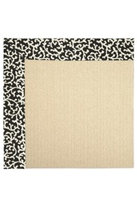 Capel Rugs Creative Concepts Beach Sisal - Coral Cascade Ebony (385) Rectangle 12' x 15' Area Rug