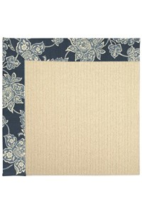 Capel Rugs Creative Concepts Beach Sisal - Bandana Indigo Blue (465) Rectangle 12' x 15' Area Rug