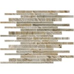 "Mannington Palisades: Weathered Ridge 13"" x 17"" Porcelain Mosaic Tile PL1BMM"