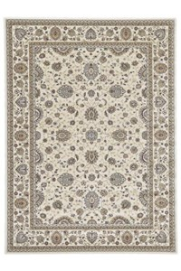 Shaw Living Kathy Ireland Home Essentials Sonnet Border (Natural) Runner 2'3