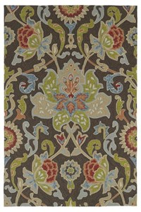 Nourison Collection Library Tropics (TS02-KHA) Rectangle 7'6