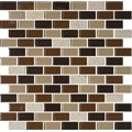"Daltile Mosaic Traditions: Desert Dune 3/4"" x 1-1/2"" Glass Brick-joint Mosaic Tile BP94-34112BJMS1P"