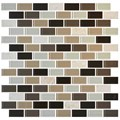 "Daltile Mosaic Traditions: Zen Escape 3/4"" x 1-1/2"" Glass Brick-joint Mosaic Tile BP96-34112BJMS1P"