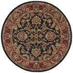 "Surya Ancient Treasures Jet Black (A-108) Round 8'0"" x 8'0"""