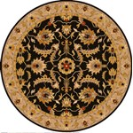 "Surya Ancient Treasures Caviar (A-171) Round 8'0"" x 8'0"""