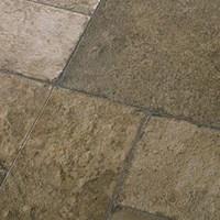 Faus Floor Masterpieces Collection: Cottage Stone Moss 10mm Laminate With Attached Pad F-369021