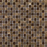 "Emser Lucente Stone and Glass Blends Mosaic 12"" x 12"" : Vetro"