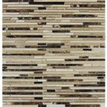 "MS International Emperador Blend Bamboo Marble Mosaic 12"" x 12"" : SMOT-EMPBB-BMP10MM"