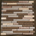 "Glass Tile & Stone Stone Brick Series Mosaic 12"" x 12"" : AL705"