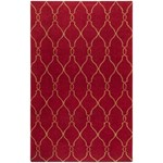 "Surya Jill Rosenwald Fallon Carmine (FAL-1013) Rectangle 5'0"" x 8'0"""